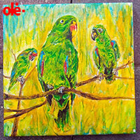 Painting. Jungle Owners - by Olena Light  Click to see full-size image
