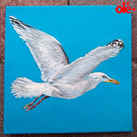 Painting. Seagull Lora - by Olena Light  Click to see full-size image