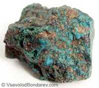 Хризоколла, Сложный водный силикат меди и алюминия  Click to see full-size image