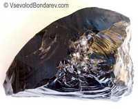 Обсидиан, Вулканическое стекло  Click to see full-size image
