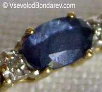 Сапфир, Драгоценная, синяя разновидность корунда  Click to see full-size image