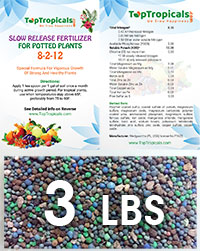 TopTropicals Smart Release Fertilizer, 3 lbs  Click to see full-size image