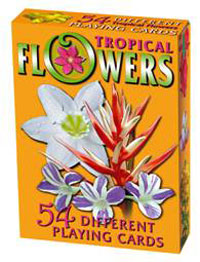 Tropical Flowers Playing Cards  Click to see full-size image