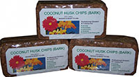 Coconut Husk Chips (soilless) - 2-Pound BrickClick to see full-size image